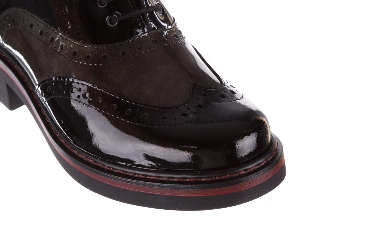 Półbuty pitillos 5821 negro-verd, czarny, skóra naturalna lakierowana - półbuty - buty damskie - kobieta 15