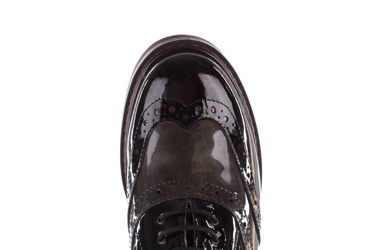 Półbuty pitillos 5821 negro-verd, czarny, skóra naturalna lakierowana - półbuty - buty damskie - kobieta 16