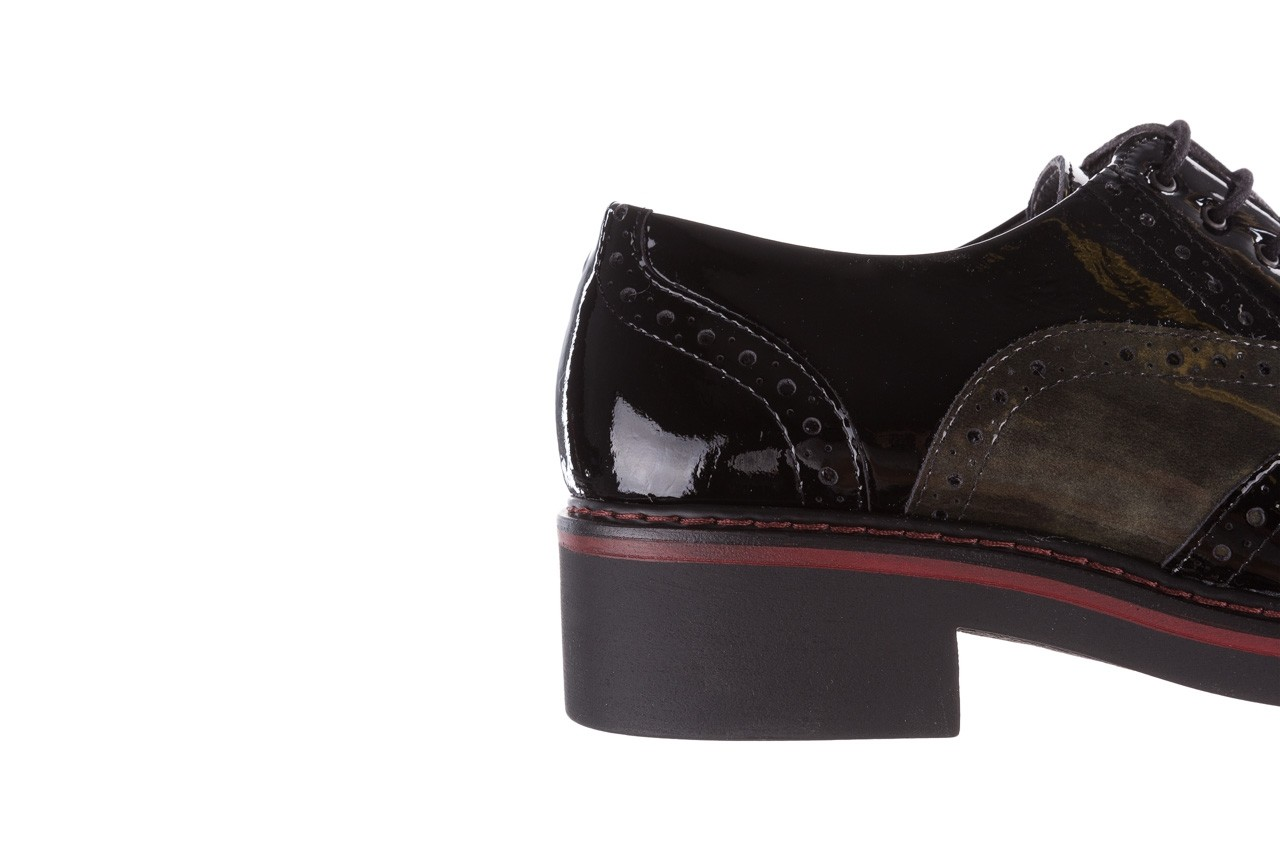 Półbuty pitillos 5821 negro-verd, czarny, skóra naturalna lakierowana - półbuty - buty damskie - kobieta 17