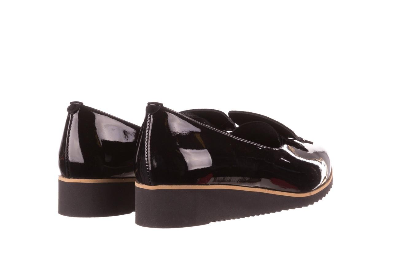 Półbuty bayla-157 b017-090-p czarny 157019, skóra naturalna lakierowana - skórzane - półbuty - buty damskie - kobieta 12
