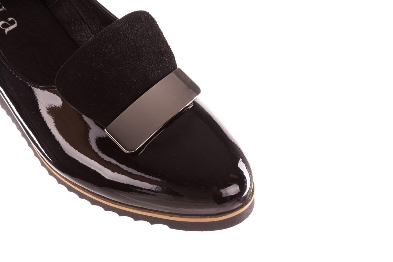 Półbuty bayla-157 b017-090-p czarny 157019, skóra naturalna lakierowana - skórzane - półbuty - buty damskie - kobieta 14