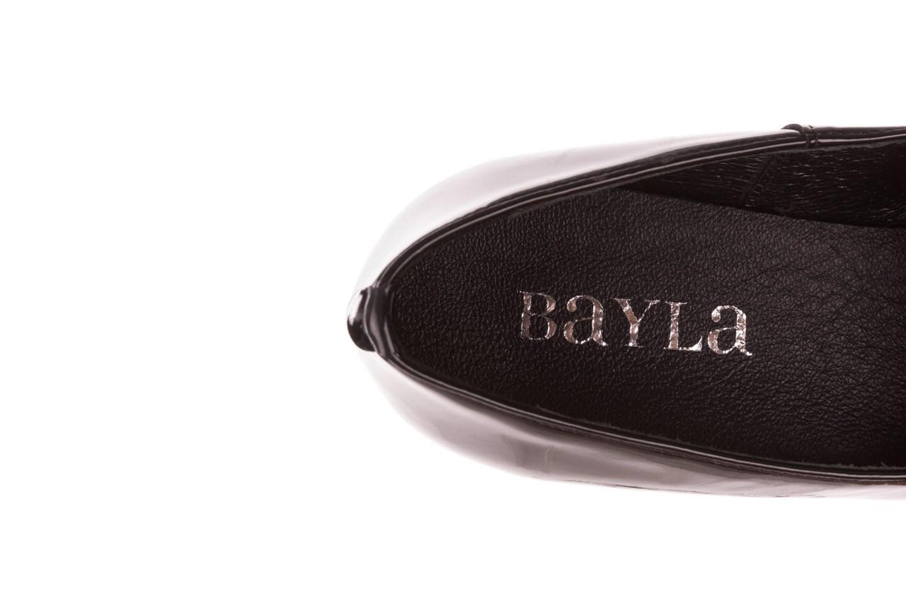 Półbuty bayla-157 b017-090-p czarny 157019, skóra naturalna lakierowana - półbuty - buty damskie - kobieta 15