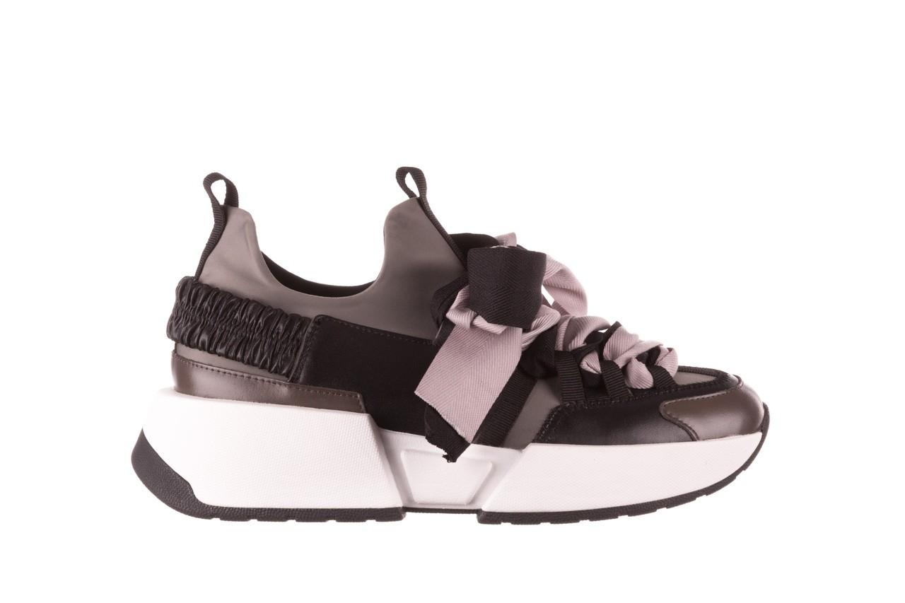 Sneakersy sca'viola e-32  graphite, szary, skóra naturalna - sale 10
