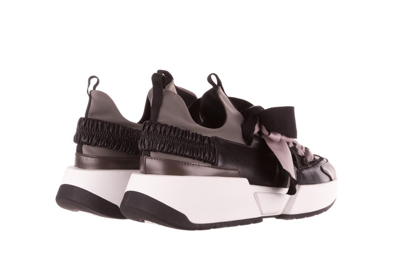 Sneakersy sca'viola e-32  graphite, szary, skóra naturalna - sale 14