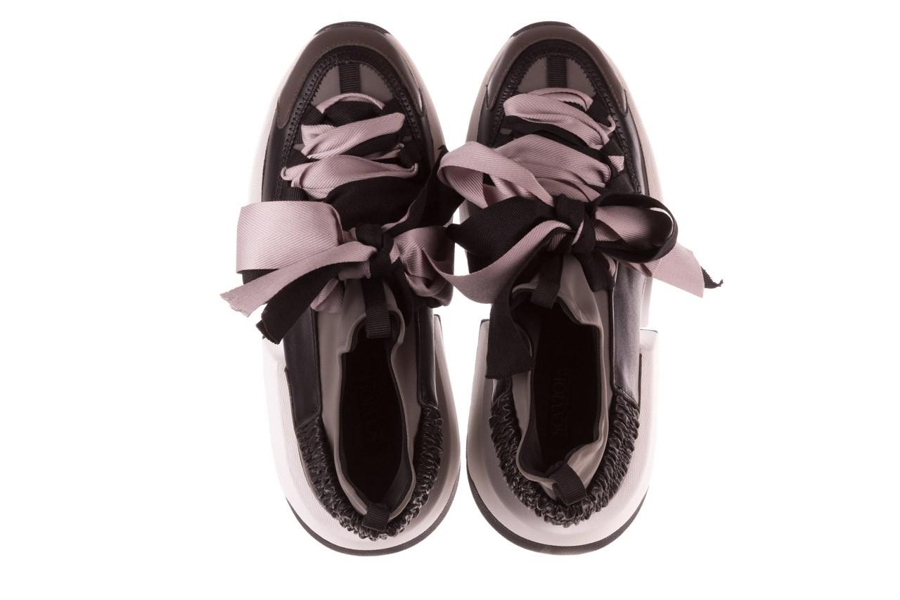 Sneakersy sca'viola e-32  graphite, szary, skóra naturalna - sale 15