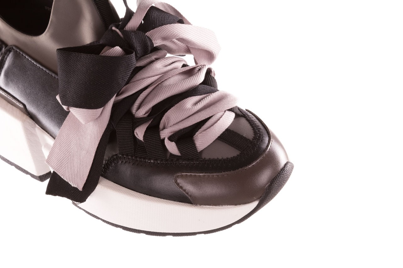 Sneakersy sca'viola e-32  graphite, szary, skóra naturalna - sale 16
