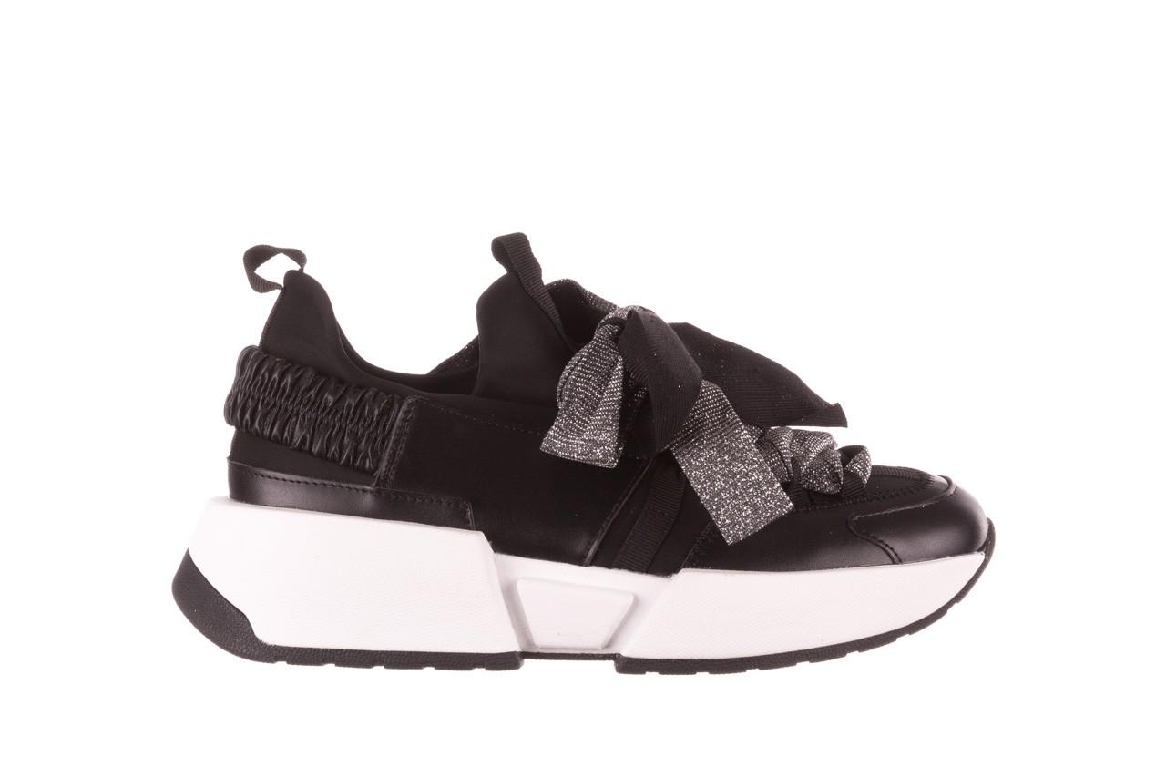 Sneakersy sca'viola e-31  black, czarny, skóra naturalna 10