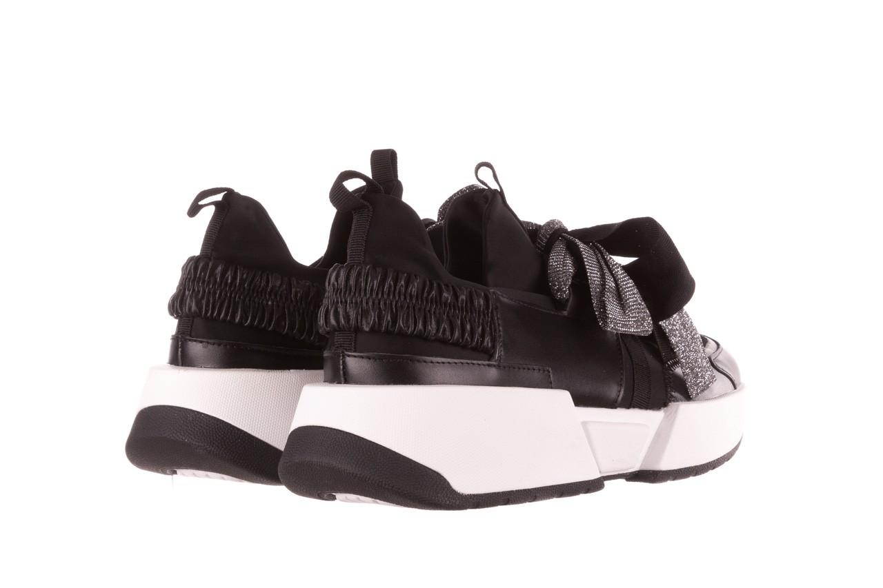 Sneakersy sca'viola e-31  black, czarny, skóra naturalna  - sneakersy - buty damskie - kobieta 14