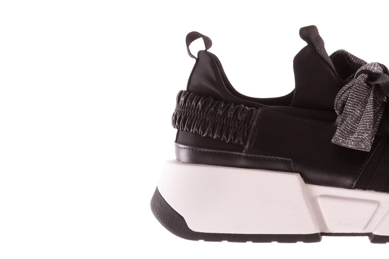 Sneakersy sca'viola e-31  black, czarny, skóra naturalna 18