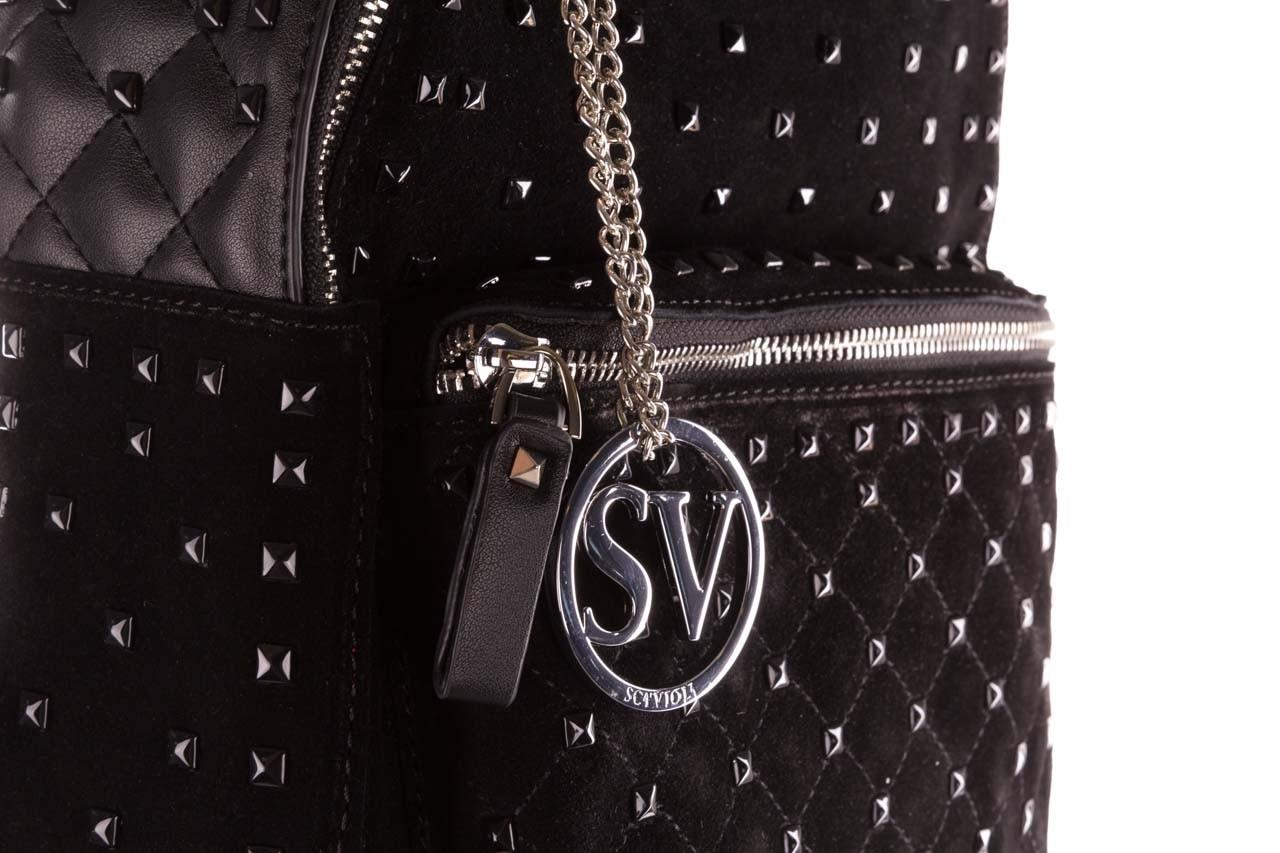 Plecak sca'viola t-57 black, czarny, skóra naturalna  - torebki - akcesoria - kobieta 13
