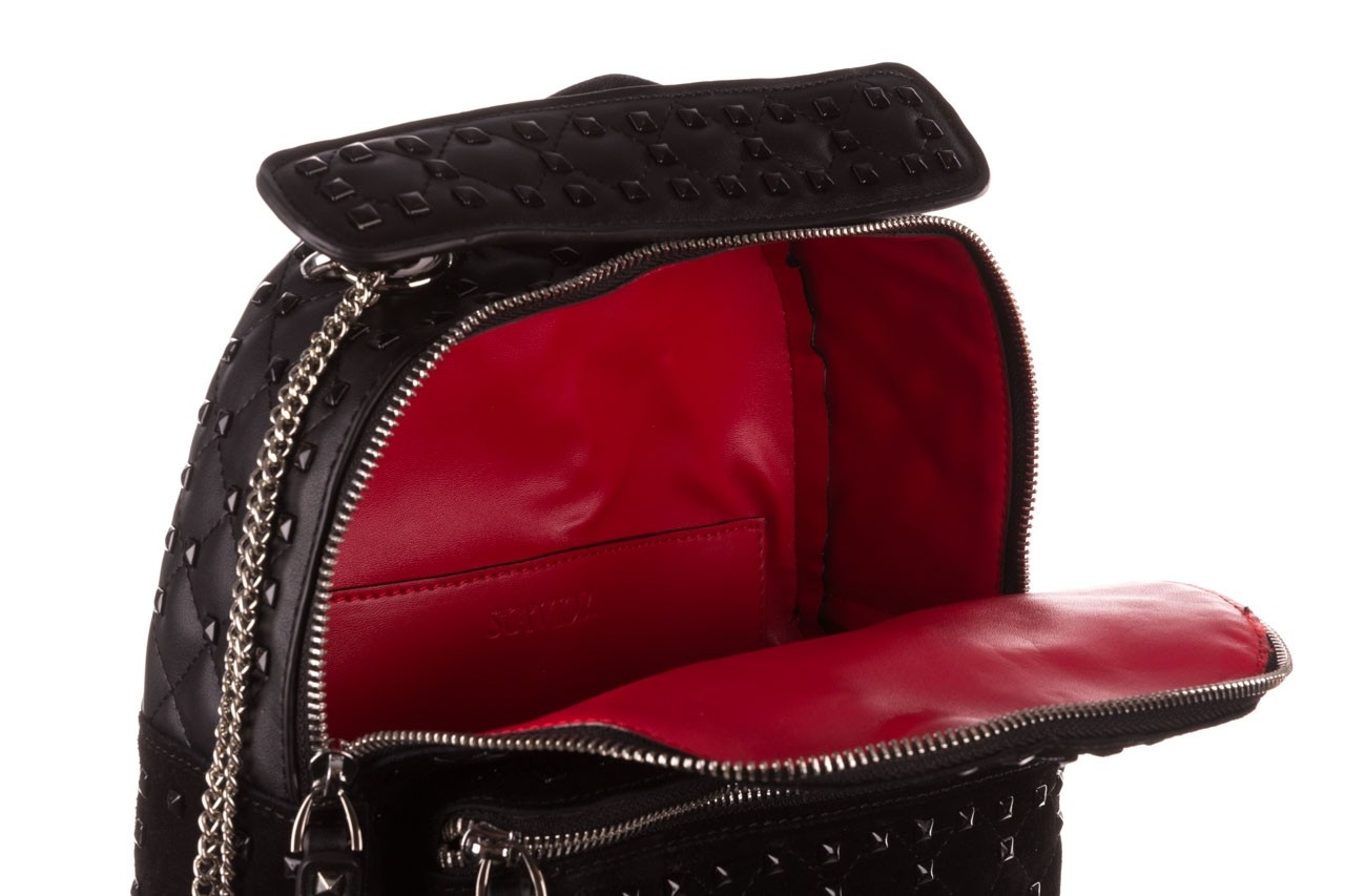 Plecak sca'viola t-57 black, czarny, skóra naturalna  - torebki - akcesoria - kobieta 16