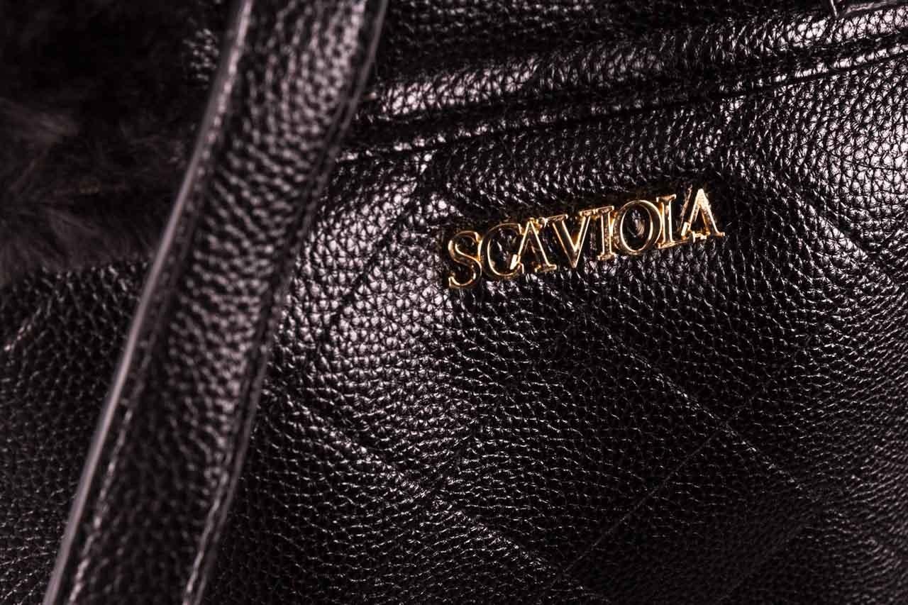 Plecak sca'viola t-58 black, czarny, skóra naturalna  - torebki - akcesoria - kobieta 12