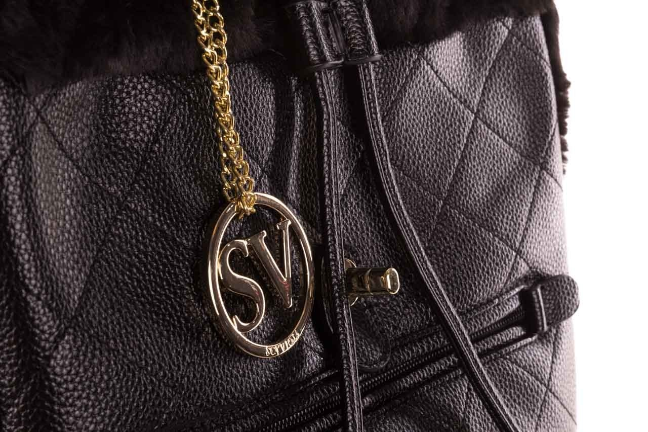 Plecak sca'viola t-58 black, czarny, skóra naturalna  - torebki - akcesoria - kobieta 15