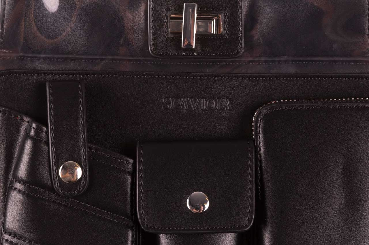 Torebka sca'viola t-59 black, czarny, skóra naturalna  - torebki - akcesoria - kobieta 10