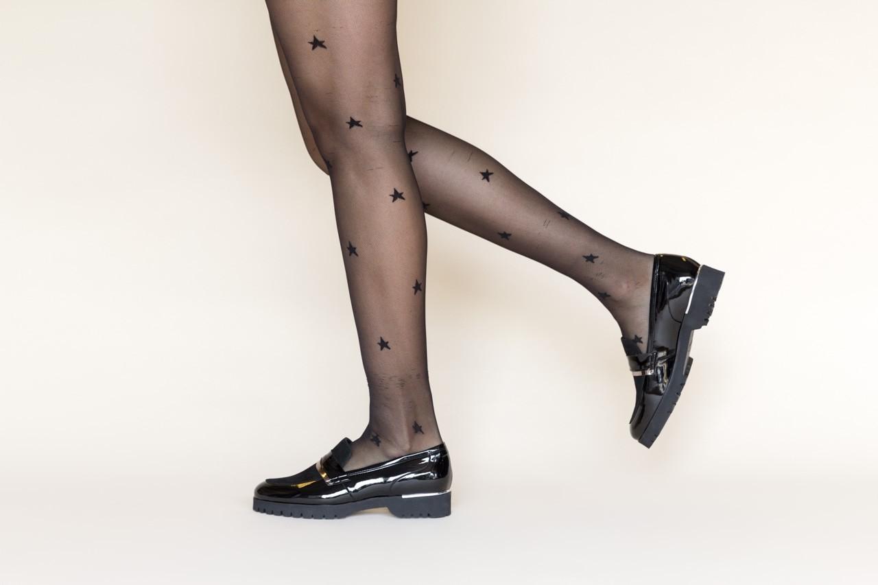Półbuty bayla-157 b017-090-p czarny 157019, skóra naturalna lakierowana - półbuty - buty damskie - kobieta 10