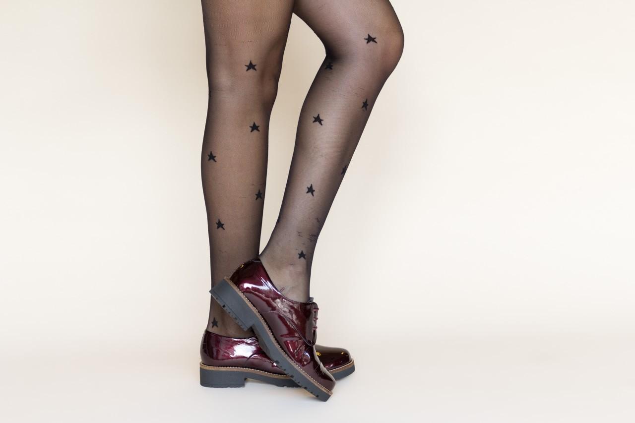 Półbuty pitillos 5790 burdeos, bordowy, skóra naturalna lakierowana  - na obcasie - półbuty - buty damskie - kobieta 13