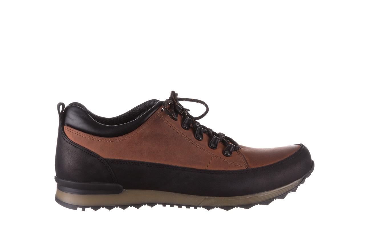Półbuty bayla-081 855 brązowo-czarne 19, skóra naturalna  - trzewiki - buty męskie - mężczyzna 8