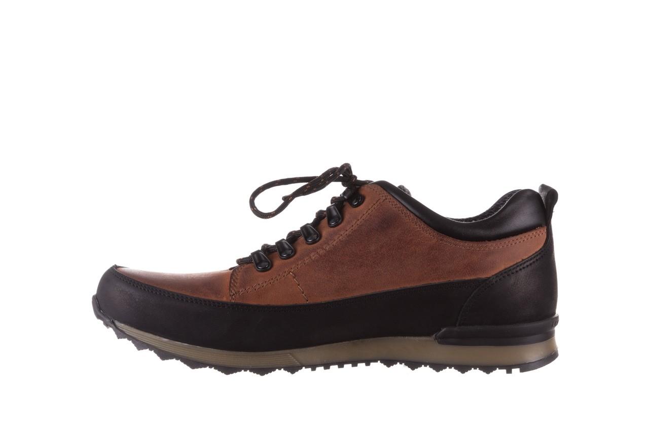 Półbuty bayla-081 855 brązowo-czarne 19, skóra naturalna  - trzewiki - buty męskie - mężczyzna 10
