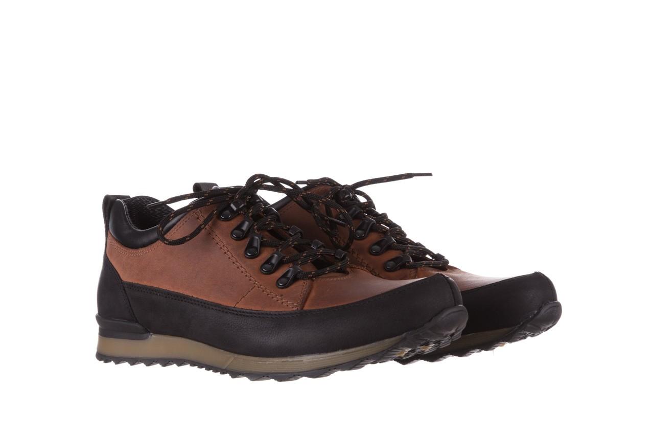 Półbuty bayla-081 855 brązowo-czarne 19, skóra naturalna  - trzewiki - buty męskie - mężczyzna 9