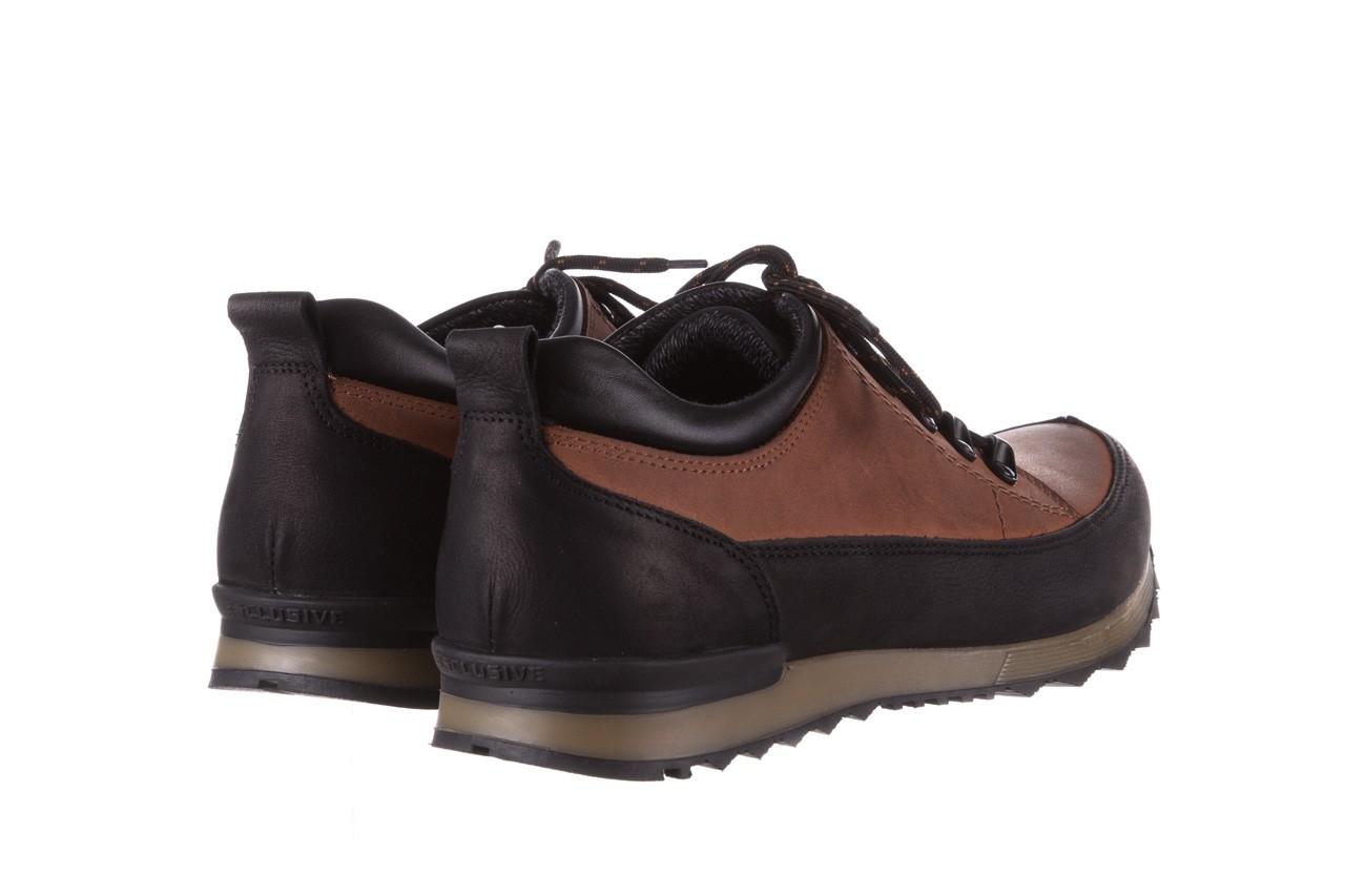 Półbuty bayla-081 855 brązowo-czarne 19, skóra naturalna  - trzewiki - buty męskie - mężczyzna 11