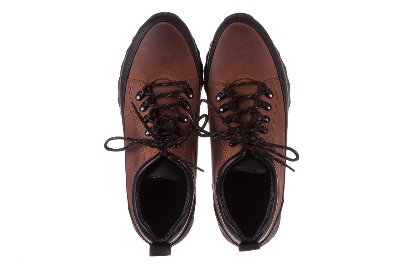Półbuty bayla-081 855 brązowo-czarne 19, skóra naturalna  - trzewiki - buty męskie - mężczyzna 12
