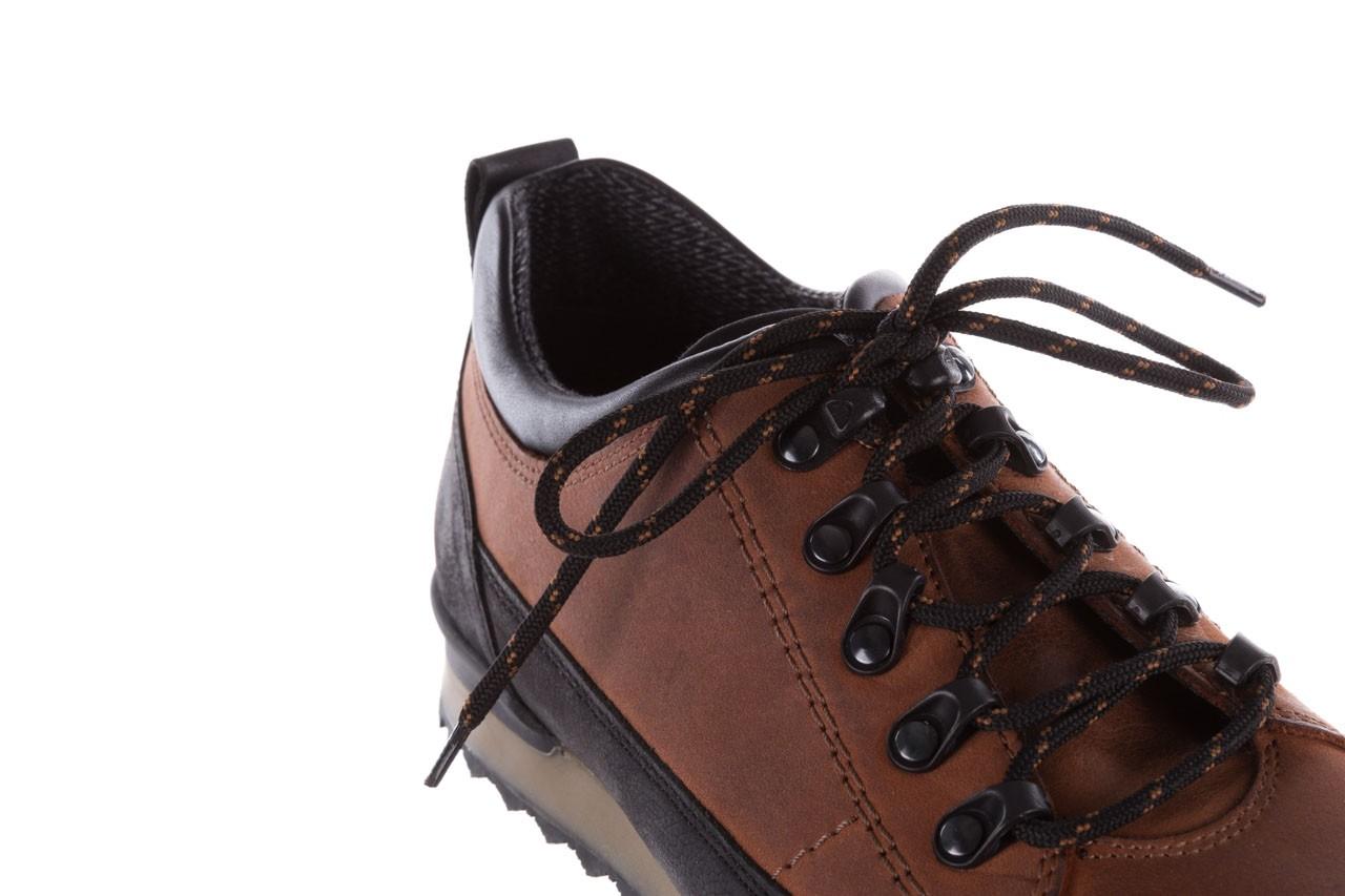 Półbuty bayla-081 855 brązowo-czarne 19, skóra naturalna  - trzewiki - buty męskie - mężczyzna 13