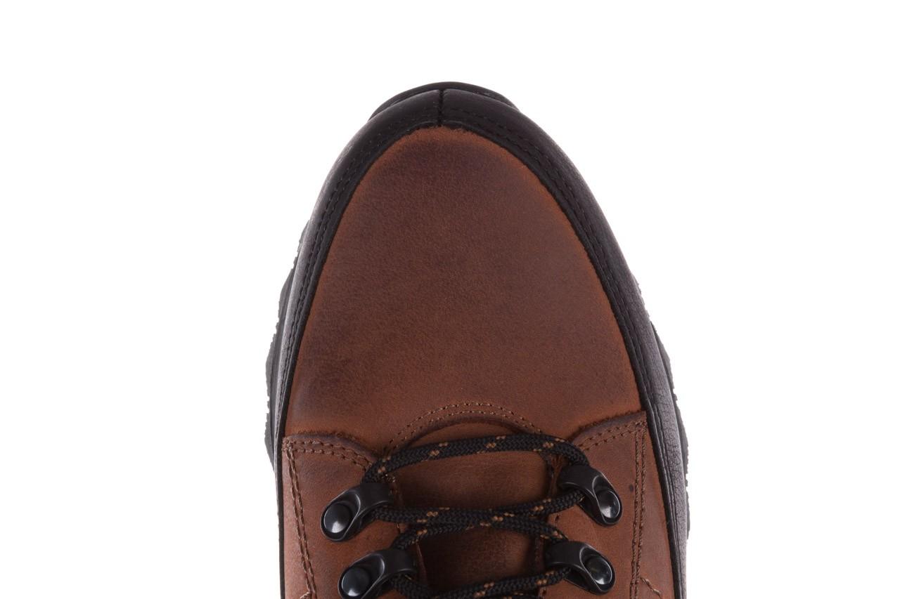 Półbuty bayla-081 855 brązowo-czarne 19, skóra naturalna  - trzewiki - buty męskie - mężczyzna 14