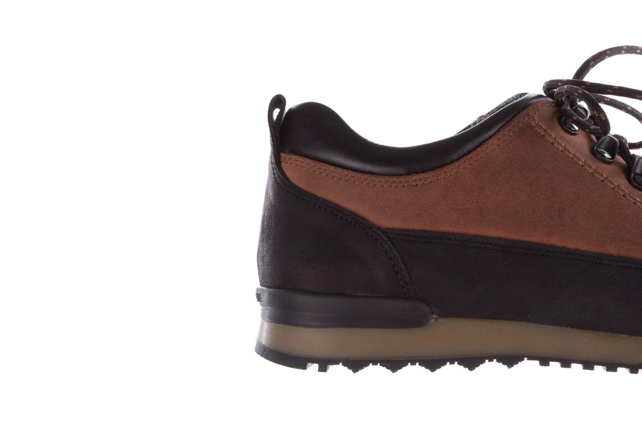 Półbuty bayla-081 855 brązowo-czarne 19, skóra naturalna  - trzewiki - buty męskie - mężczyzna 15