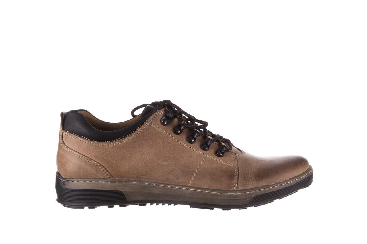Półbuty bayla-081 862 beżowe, skóra naturalna  - trzewiki - buty męskie - mężczyzna 9