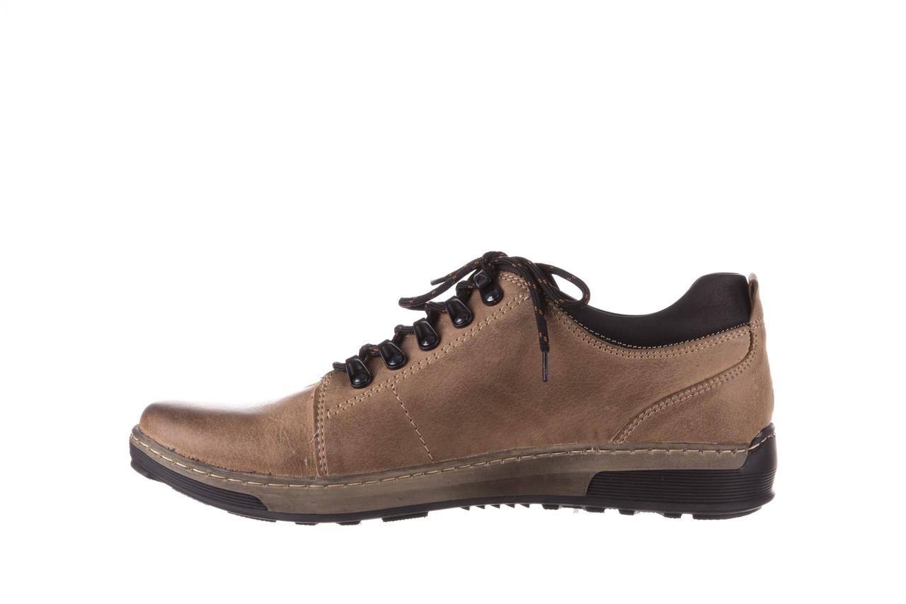 Półbuty bayla-081 862 beżowe, skóra naturalna  - trzewiki - buty męskie - mężczyzna 11
