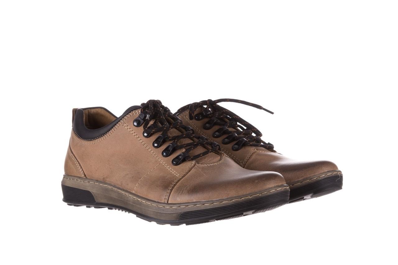 Półbuty bayla-081 862 beżowe, skóra naturalna  - trzewiki - buty męskie - mężczyzna 10
