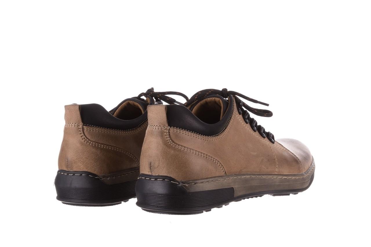 Półbuty bayla-081 862 beżowe, skóra naturalna  - trzewiki - buty męskie - mężczyzna 12