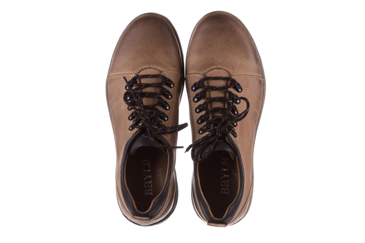 Półbuty bayla-081 862 beżowe, skóra naturalna  - trzewiki - buty męskie - mężczyzna 13