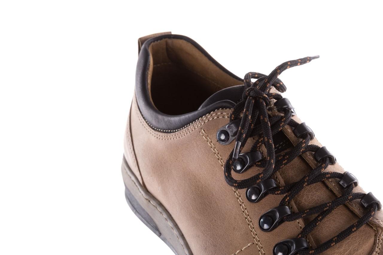 Półbuty bayla-081 862 beżowe, skóra naturalna  - trzewiki - buty męskie - mężczyzna 14