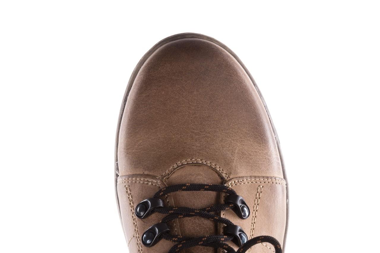 Półbuty bayla-081 862 beżowe, skóra naturalna  - trzewiki - buty męskie - mężczyzna 15