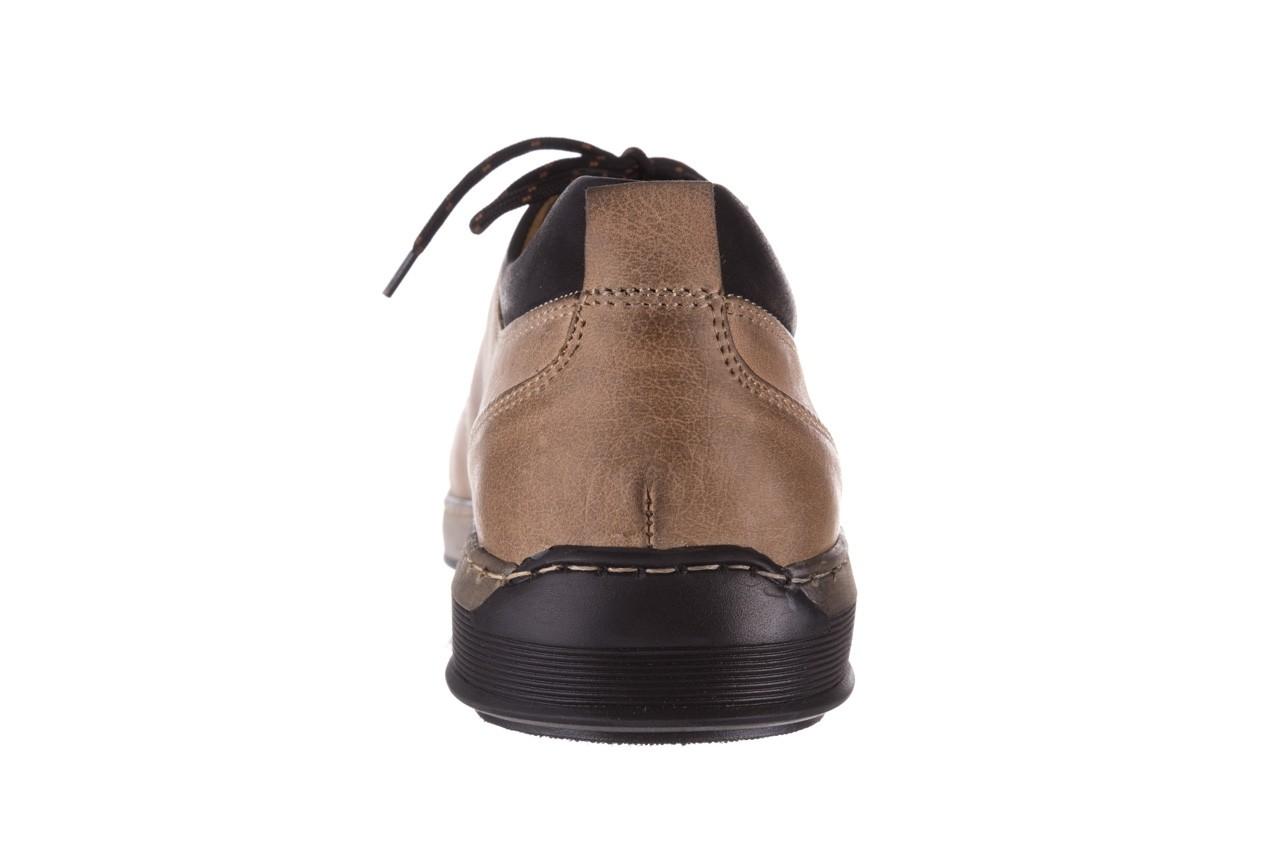 Półbuty bayla-081 862 beżowe, skóra naturalna  - trzewiki - buty męskie - mężczyzna 17