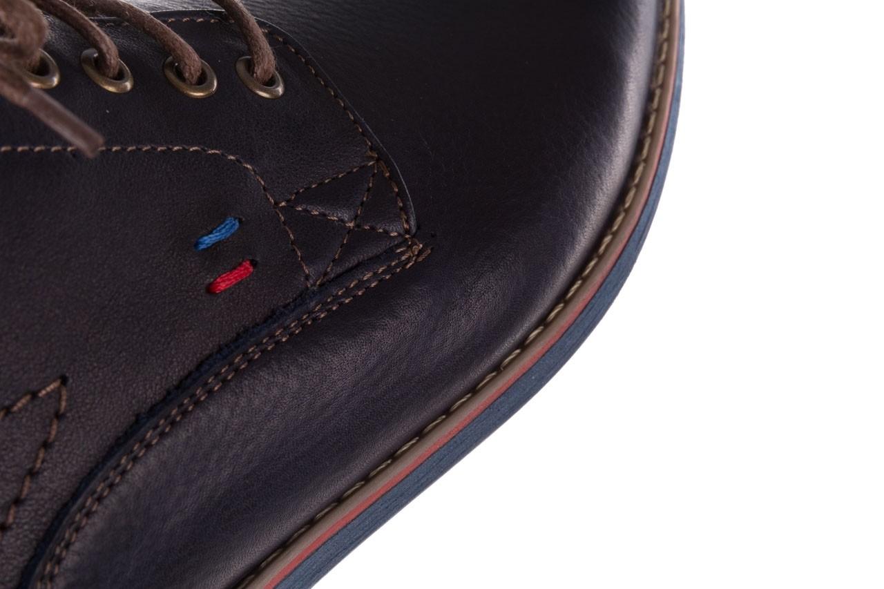 Półbuty bayla-081 771 ii granatowe 19, skóra naturalna  - półbuty - buty męskie - mężczyzna 17