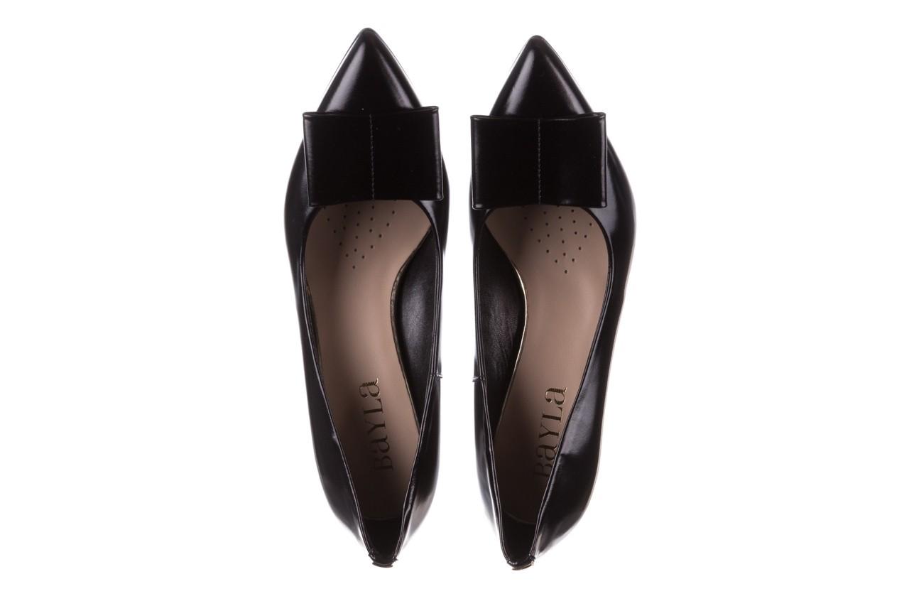 Czółenka bayla-056 9404-1278 czarny, skóra naturalna  - czółenka - buty damskie - kobieta 13