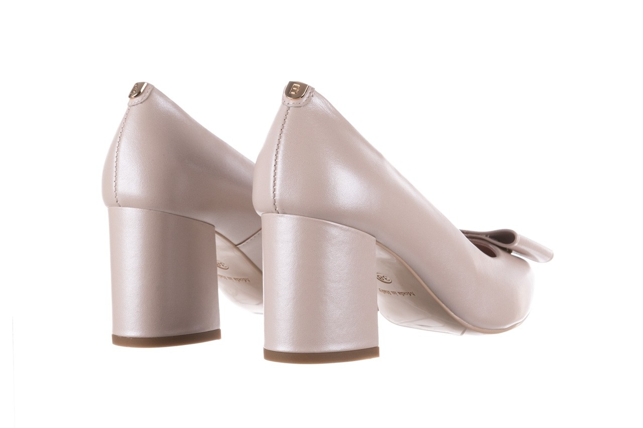 Czółenka bayla-056 9404-1459 beż perła, skóra naturalna  - skórzane - czółenka - buty damskie - kobieta 12