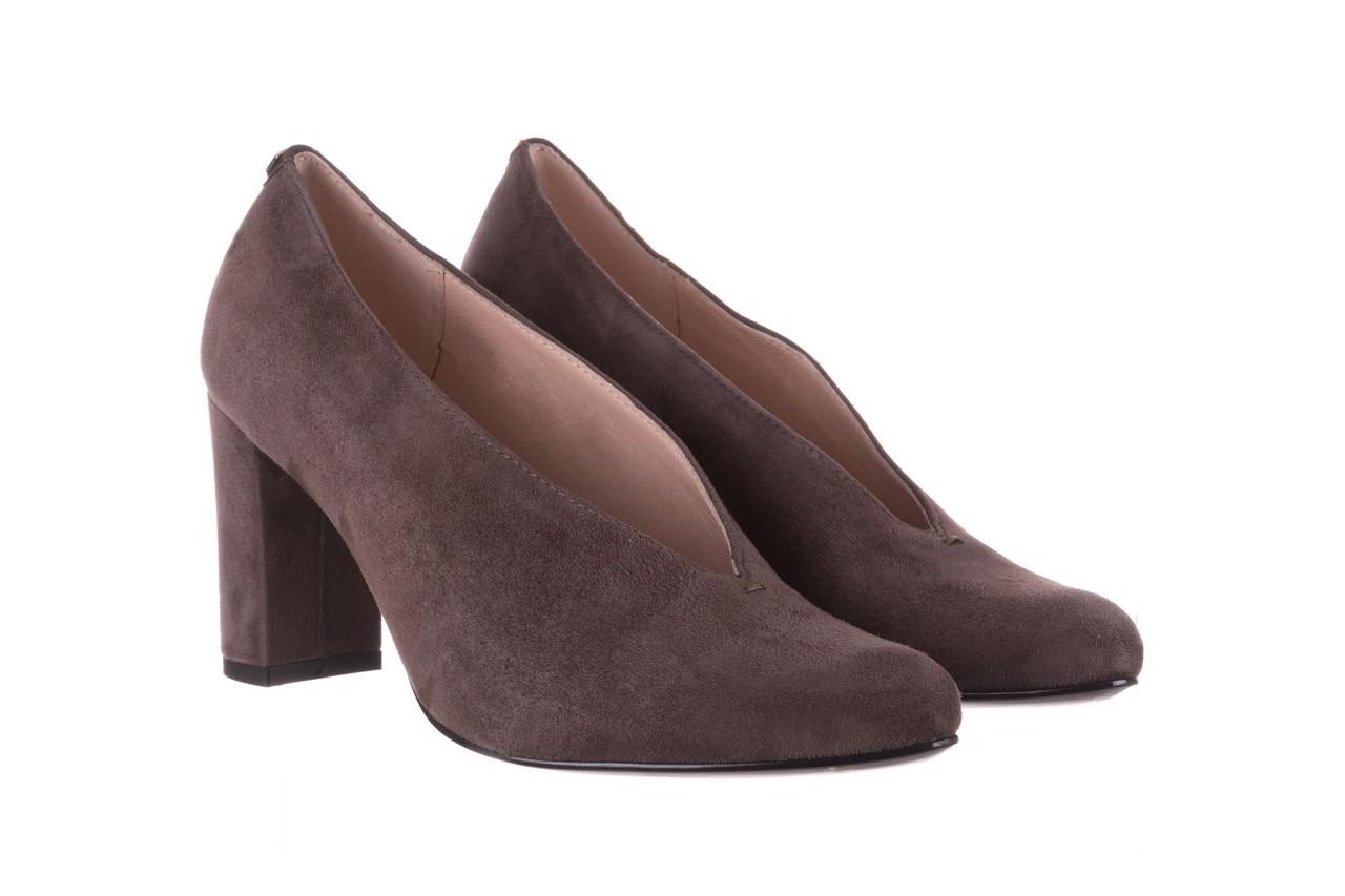 Czółenka bayla-056 9147-1462 szary, skóra naturalna  - zamszowe - czółenka - buty damskie - kobieta 9
