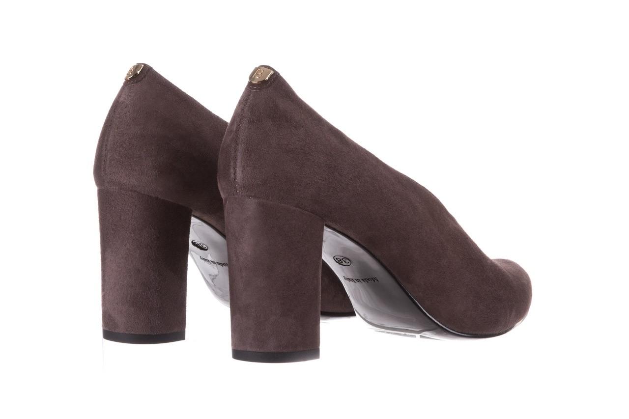 Czółenka bayla-056 9147-1462 szary, skóra naturalna  - zamszowe - czółenka - buty damskie - kobieta 12
