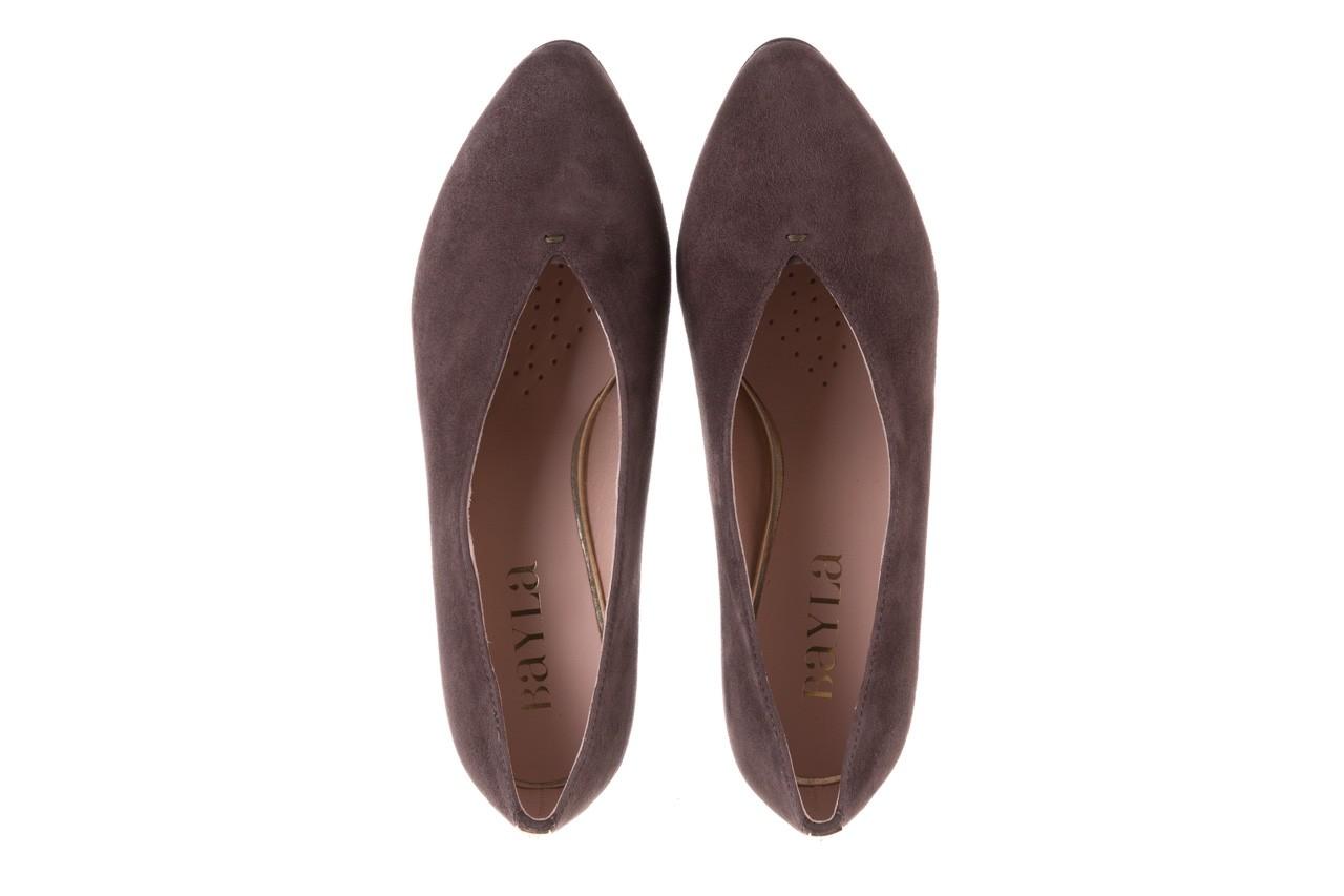 Czółenka bayla-056 9147-1462 szary, skóra naturalna  - czółenka - buty damskie - kobieta 13