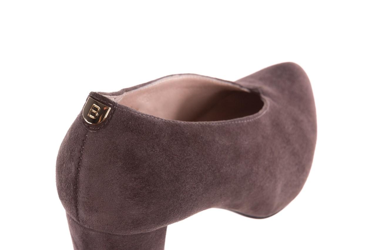 Czółenka bayla-056 9147-1462 szary, skóra naturalna  - zamszowe - czółenka - buty damskie - kobieta 15