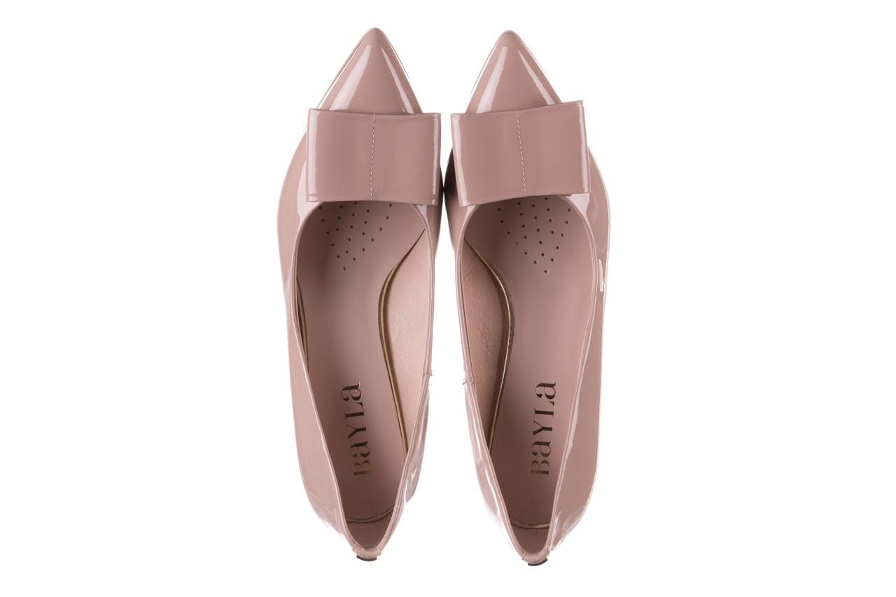 Czółenka bayla-056 9404-430 róż, skóra naturalna lakierowana  - czółenka - buty damskie - kobieta 13
