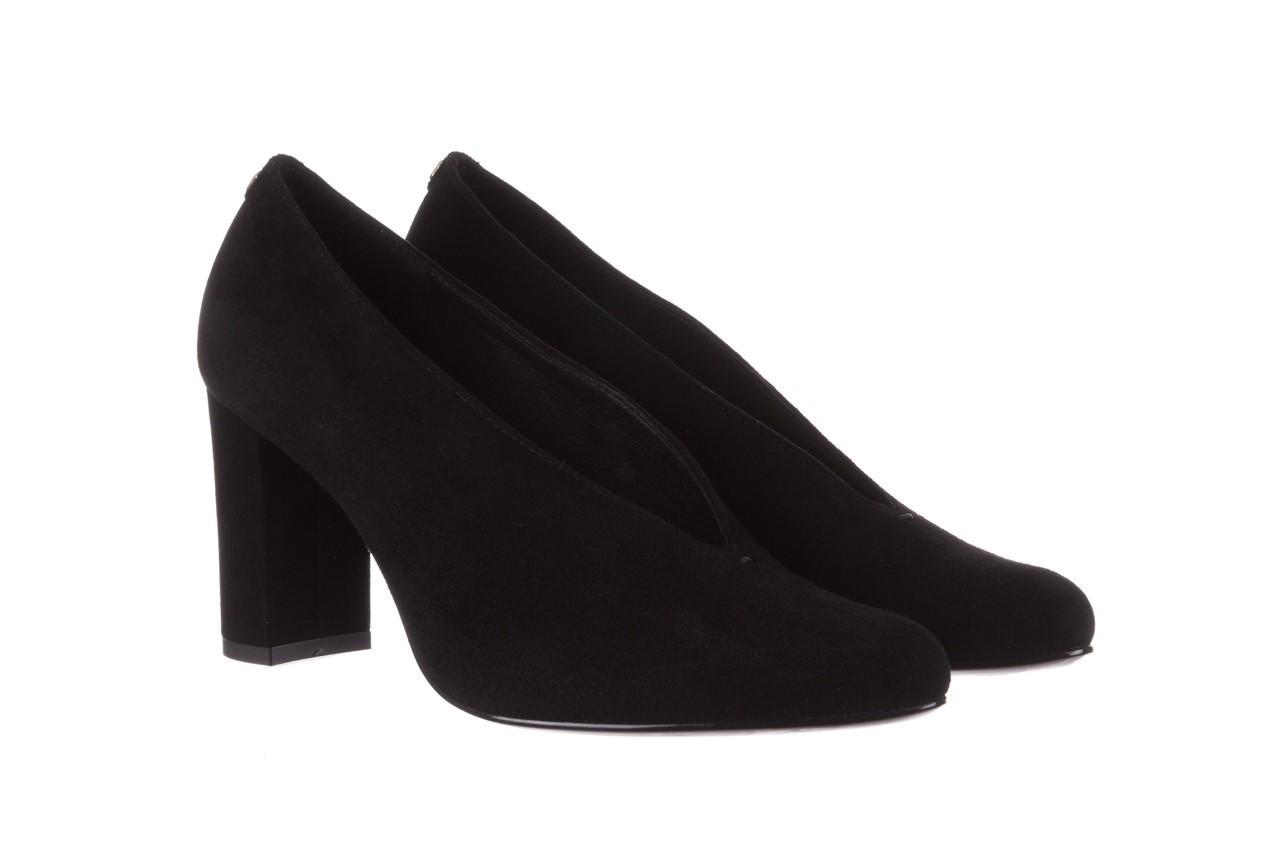 Czółenka bayla-056 9147-21 czarny, skóra naturalna  - na słupku - czółenka - buty damskie - kobieta 9