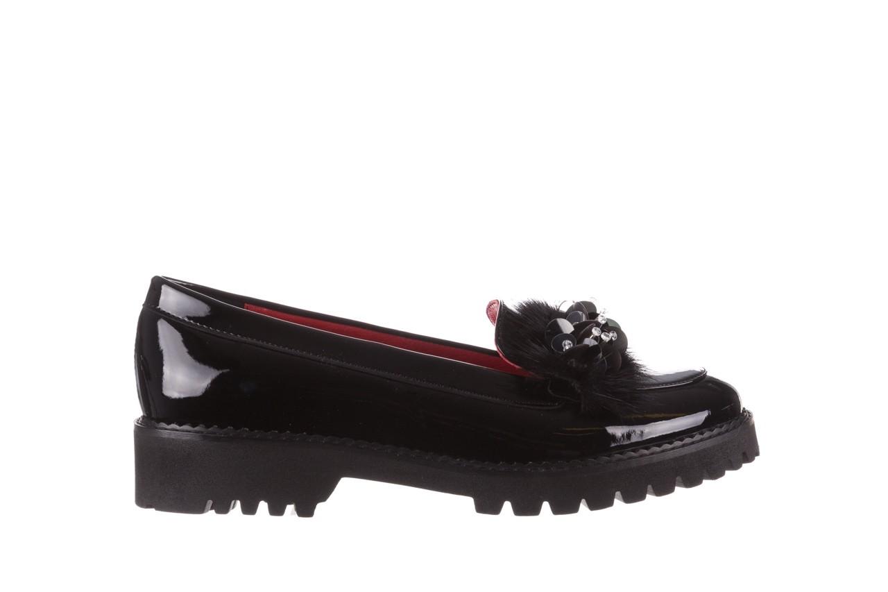 Półbuty bayla-157 b019-090-p czarny 157024, skóra naturalna lakierowana  - półbuty - buty damskie - kobieta 10