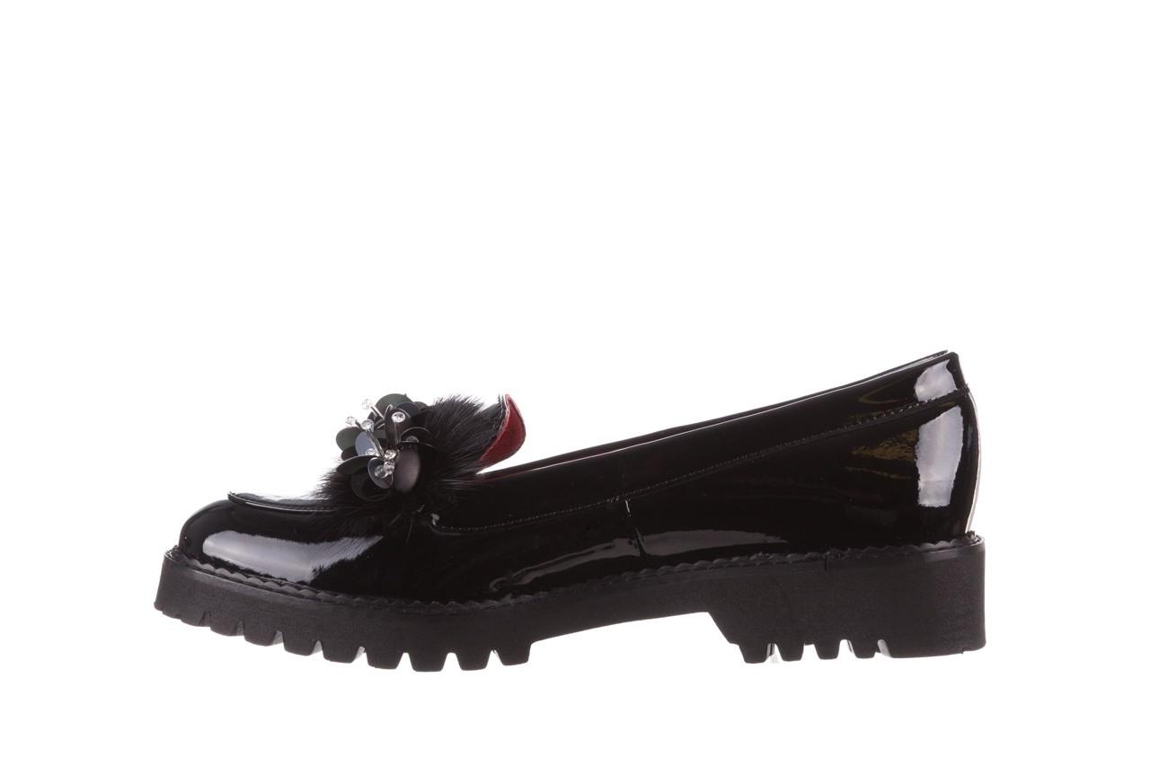 Półbuty bayla-157 b019-090-p czarny 157024, skóra naturalna lakierowana  - półbuty - buty damskie - kobieta 13