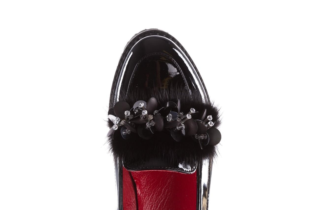 Półbuty bayla-157 b019-090-p czarny 157024, skóra naturalna lakierowana  - półbuty - buty damskie - kobieta 16