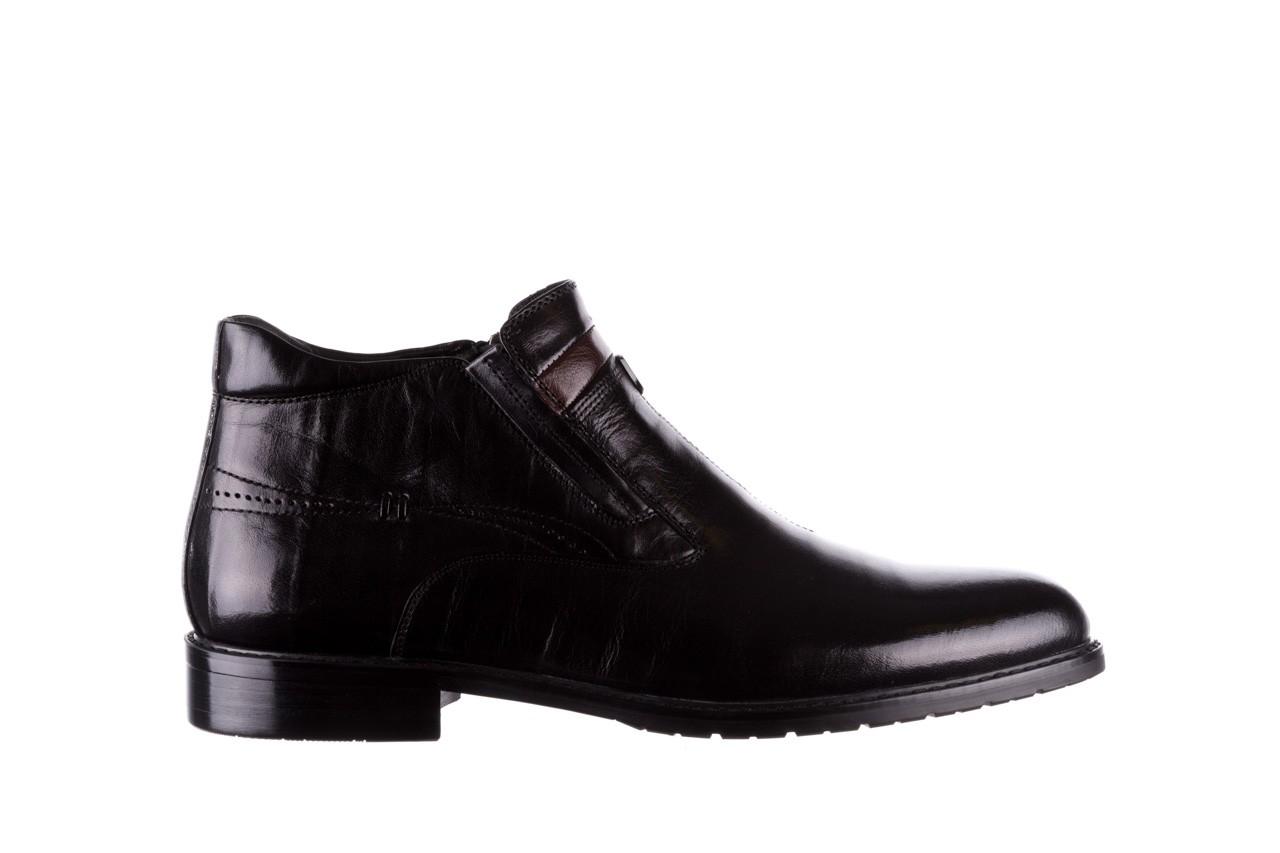 Trzewiki john doubare ygfr-z106-305-1 black, czarny, skóra naturalna  - buty męskie - mężczyzna 7