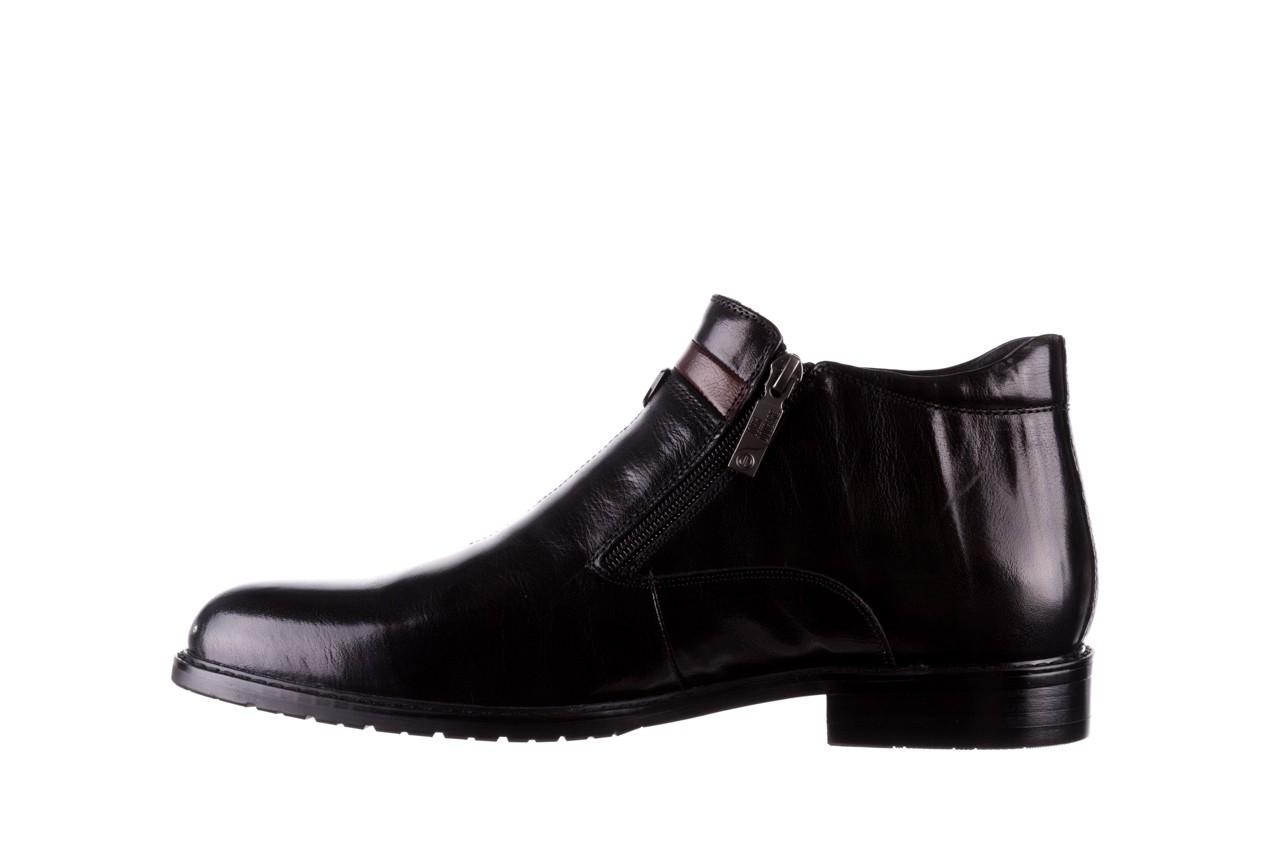 Trzewiki john doubare ygfr-z106-305-1 black, czarny, skóra naturalna  - buty męskie - mężczyzna 9